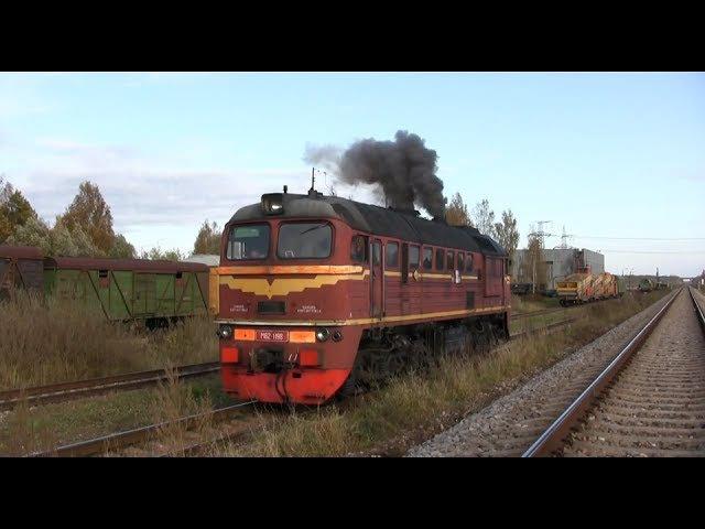 Запуск дизеля тепловоза М62-1198 / Engine start of M62-1198 at Jelgava PMS