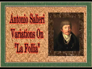 Salieri - Variations on 'La Follia'