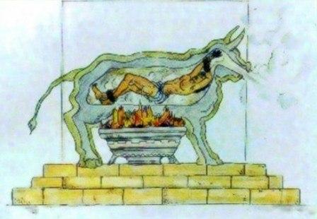 бык фаларида бык фаларида — древнее орудие казни, применявшееся ираном агригента фаларидом во второй половине vi века до н. э.орудие убийства представляло собой полое медное изваяние быка,