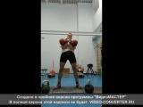 Тренировка по плану п.Нижнесортымский  Толчок ДЦ 2*32кг 8 минут работы 41 подъем