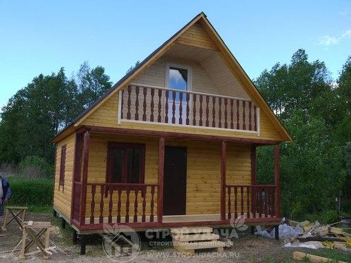 Дома из бруса в Московской области, построенные нами