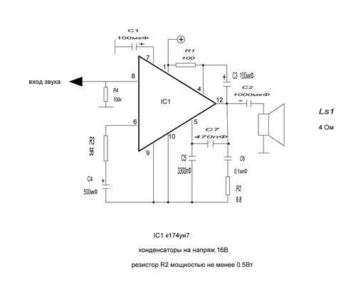 микросхема-К174УН9.