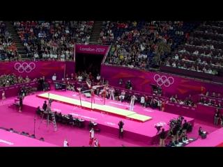 ОИ 2012. Командное многоборье. Алия Мустафина - брусья