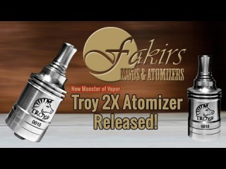 Fakirs Troy 2X RDA Review - Flavor Central - VapingwithTwisted420