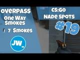 OVERPASS - ONE WAY SMOKES EP #19 Tutorial CSGO Nade Spots - Jamiew_