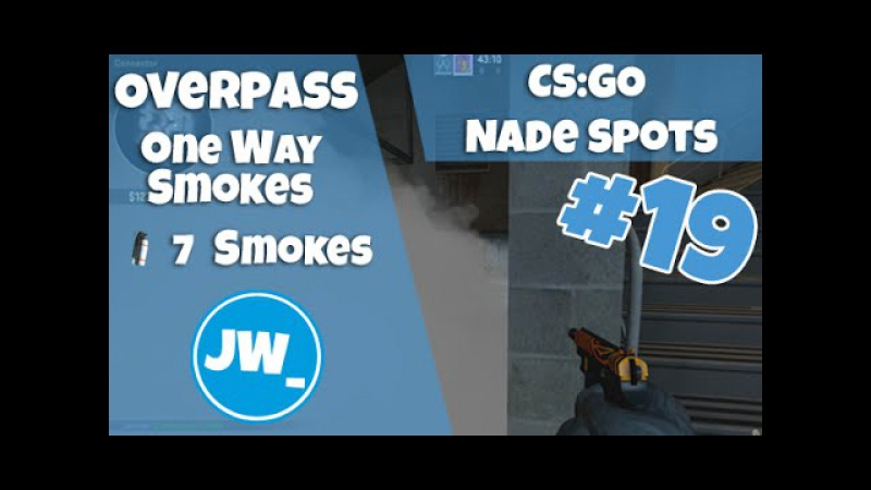 OVERPASS - ONE WAY SMOKES EP 19 | Tutorial CS:GO Nade Spots - Jamiew_