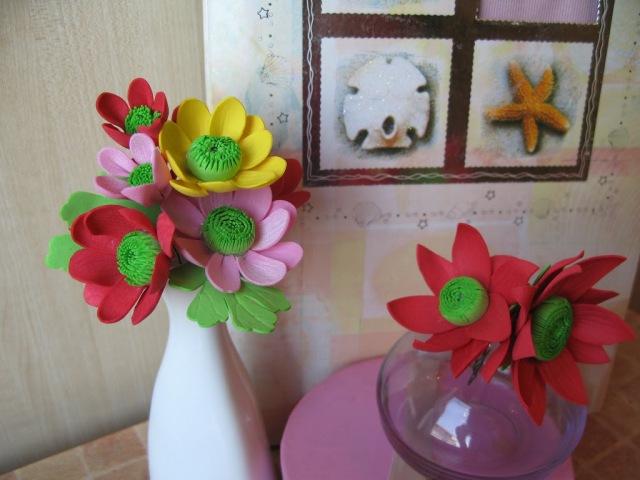 Цветы из фоамирана мастер класс для начинающих - Хризантемы