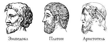 Эмпедокл, Платон и Аристотель