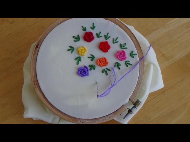 Hand Embroidery Bullion Knot Stitch