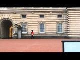 Шутки королевских гвардейцев. Королевский гвардеец не смог стоять как памятник у Букингемского дворца и пошел, пошел... под арест  Silly walks Guard at Buckingham Palace