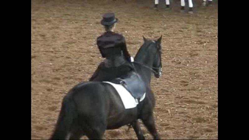 Езда в дамском седле : русский верховой Абрек и Мария