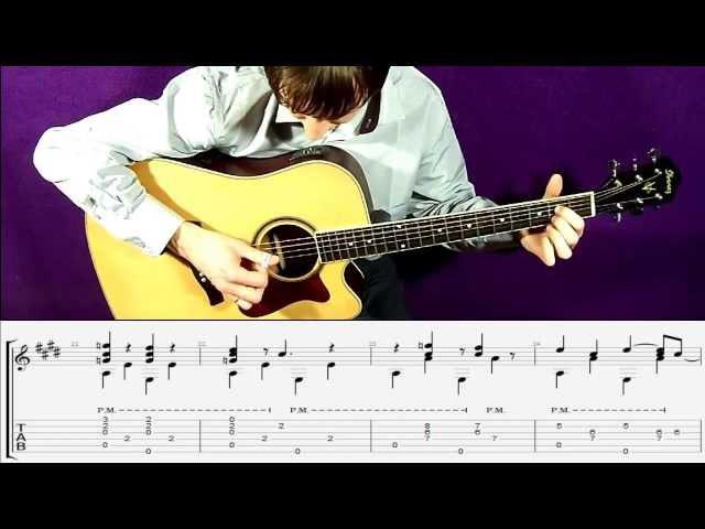 Мой друг лучше всех играет блюз на гитаре | Фингерстайл. Урок табы