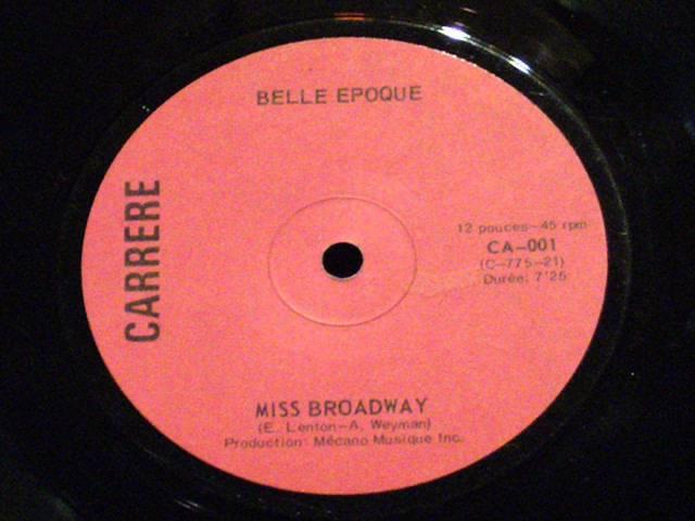 Miss broadway Belle epoque