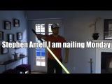 Stephen Amell I am nailing Monday. Arrow