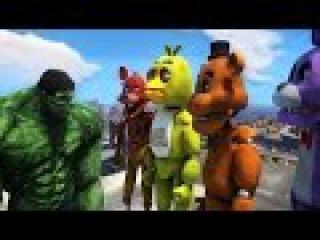 GTA 4 : HULK VS FIVE NIGHT'S AT FREDDY
