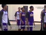 EXCLUSIVE Kobe Goes Off OnTeammates Trash Talking with Nick Young FULL with subtitles