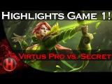 Dota 2 - Virtus Pro vs. Team Secret Grand Finals WCA 2015 Game 1