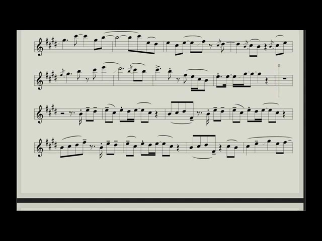 Syntheticsax - Old Letters (SCORE for Saxophone Alto)