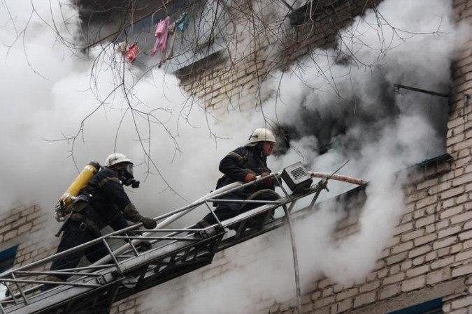 В городе Таганроге горела квартира в девятиэтажке