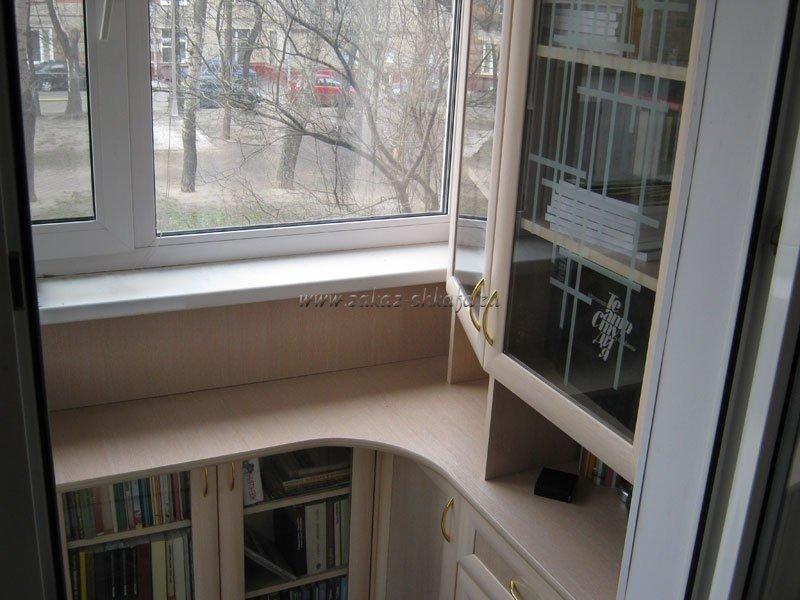 Угловой шкаф на балкон 4 кв м. - дизайны балконов - каталог .