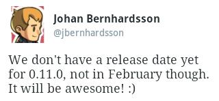 0.11.0 в феврале не будет!