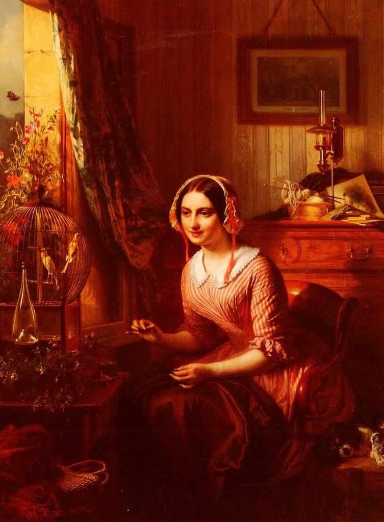 Бельгийский художник Josephus Laurentius Dyckmans (1811 - 1888)