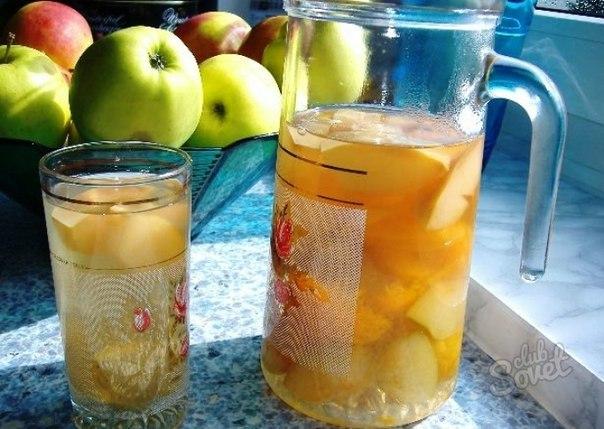Компот из свежих яблок рецепт с фото