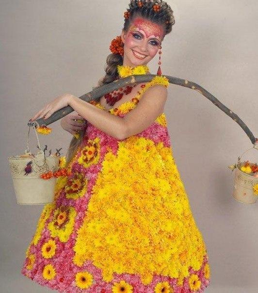 Платья своими руками цветы