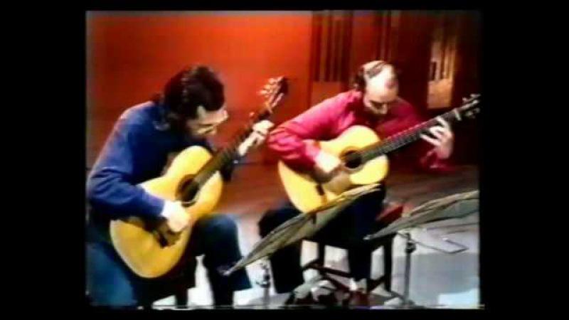 Rare Guitar Video John Williams and Julian Bream plays La vida breve by Manuel de Falla