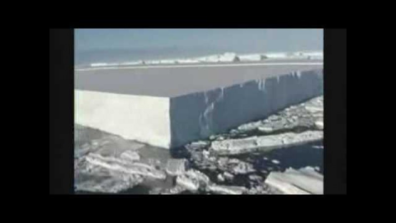 Flyover of breaking Wilkins Ice Shelf (2008.03.25)
