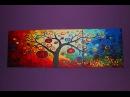 Картина по номерам триптих Дерево богатства музыка Era Infiniti Ocean