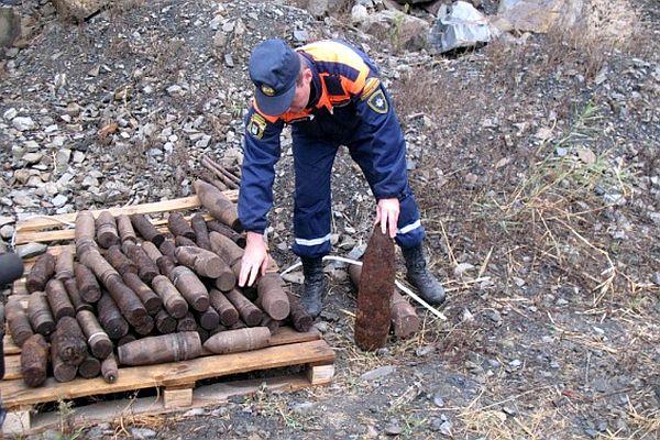 В Таганроге на «ТАМЕТе» найдены два снаряда с современной маркировкой