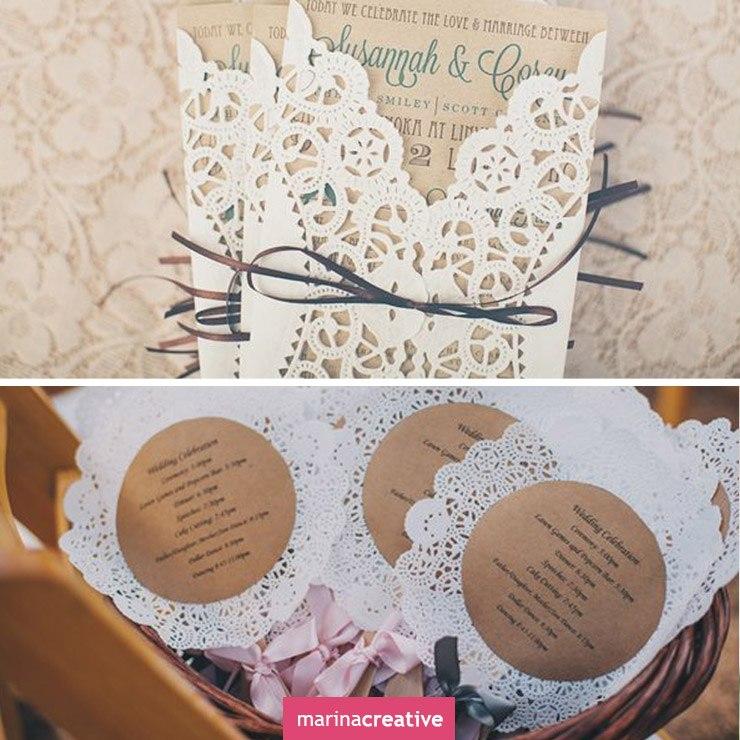 Из чего сделать приглашения на свадьбу своими руками