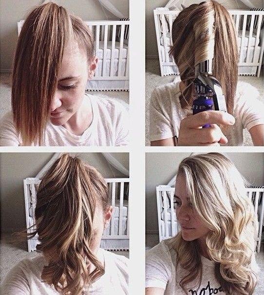 Как сделать легкую прическу на волосы средней длины