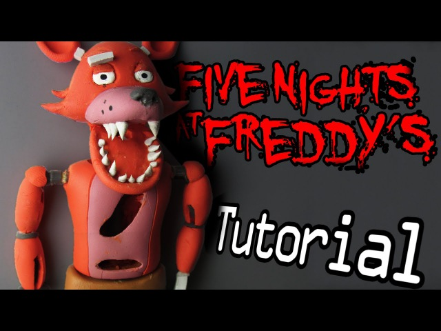 FOXY Five Nights At Freddys Polymer Clay Tutorial | Porcelana Fría Plastilina