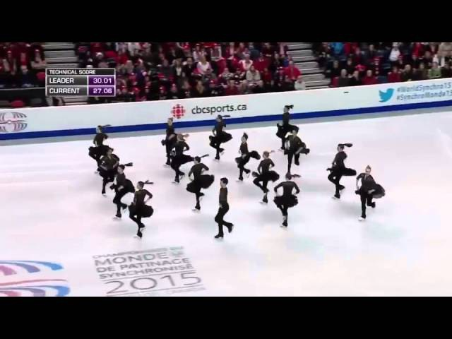 2015 World Synchro Champs SP Team Canada 1