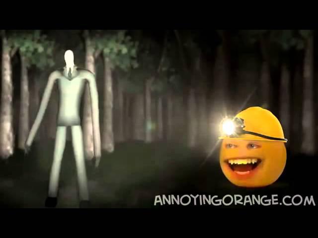 апельсин достает слендермена
