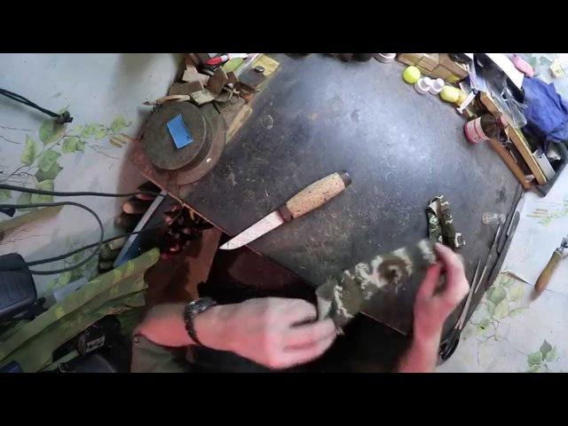 Рукоять из пробки часть 2 - монтаж и обработка