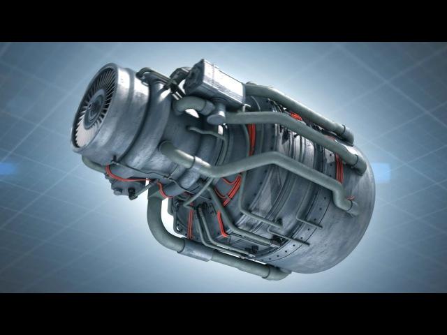 3d анимация турбореактивного двигателя 60 fps
