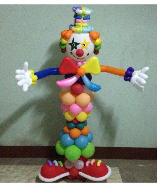 Как сделать клоуна из шаров своими руками видео