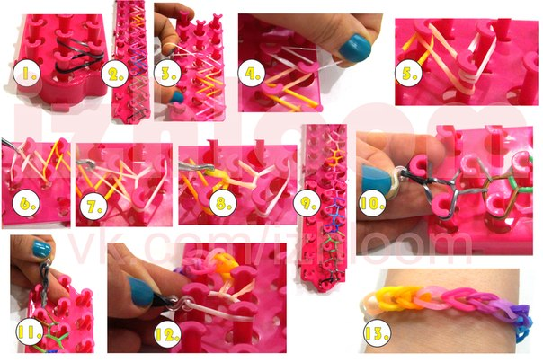 Как сделать из резинок разные фигурки на станке