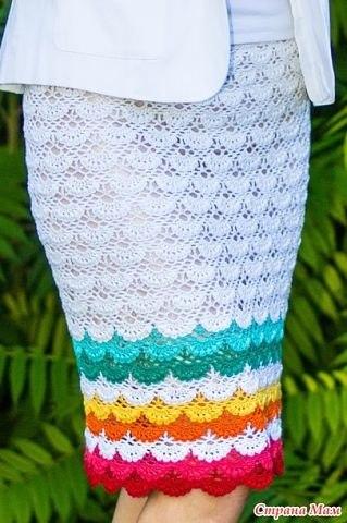 Дневник по вязанию крючком юбки