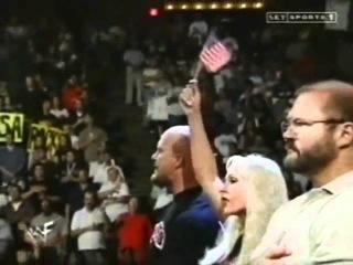 1st National Anthem after 9 11   Lilian Garcia at WWF Smackdown 9 13 01