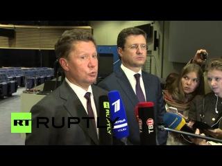 Бельгия: Новак и Миллер держал давление после России соглашается поставить Украину с зимним газа.