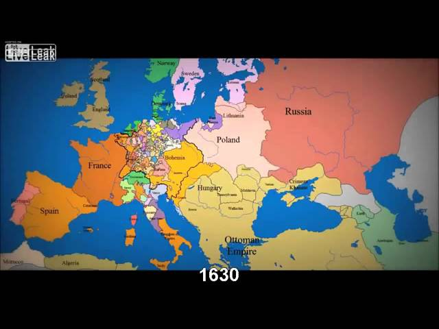 LiveLeak com abkebab's Map of Europe 1000 AD to present with timeline comments