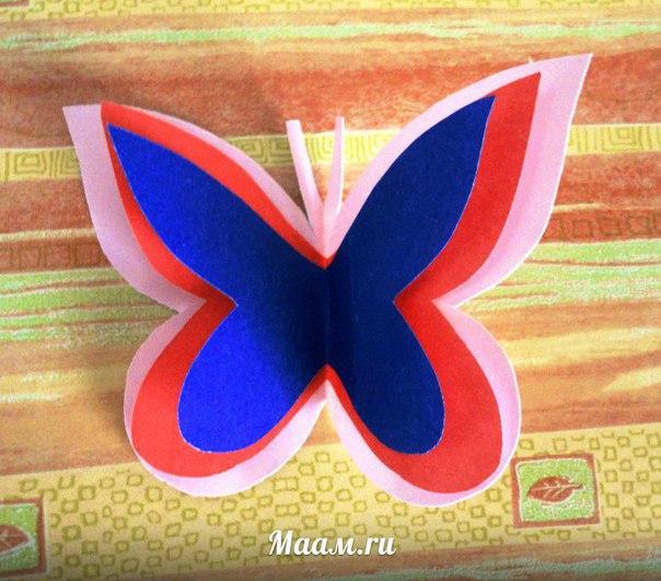 Поэтапная поделка из цветной бумаги
