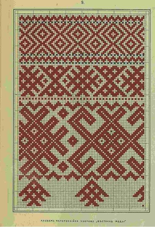 Узоры для вышивки крестом