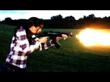 Ash shoots a Full Auto AK47 for the first time!!!