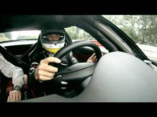 Нико Росберг катает Дэвида Култхарда по Нордшляйфе на SLS AMG.