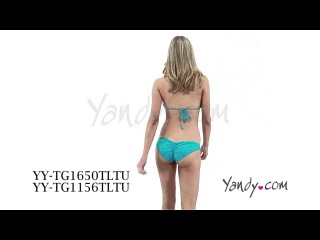 Turquoise Glow in the Dark Rave Bikini Set YY TG1650TLTU